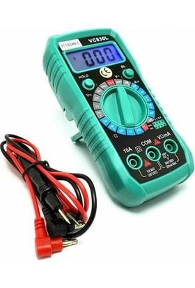Technic VC830L Dijital Işıklı LCD Ekran Multimetre Ölçü Aleti