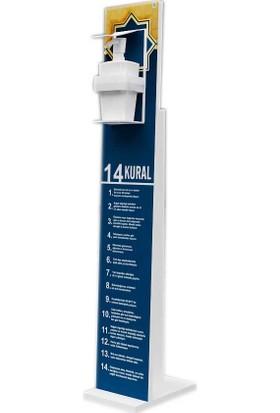 Bayz Dezenfektan Standı Melamin Kaplama 18 mm 117,5X22 cm