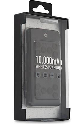 Hytech HP-W11 10000 mAh Powerbank 2 Usb Port Siyah Kablosuz Taşınabilir Pil Şarj Cihazı
