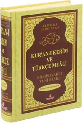 Kur'An-I Kerim Ve Türkçe Meali (Rahle Boy, Bilgisayar Hatlı, Renkli)-Elmalılı Muhammed Hamdi Yazır