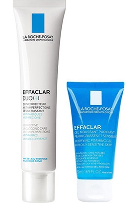 La Roche Posay Effaclar Duo 40 ml Krem + Effaclar Jel 50 ml Set