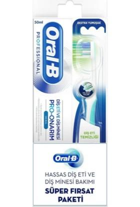 Oral-B Pro Onarım Diş Eti ve Diş Minesi Diş Macunu 50 ml + Diş Eti Temizliği Diş Fırçası