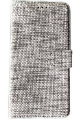 Kny Huawei P40 Lite Kılıf Kumaş Desenli Cüzdanlı Standlı Kapaklı Kılıf + Nano Cam Ekran Koruyucu