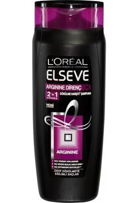 Elseve Şampuan 520ml Argınıne Direnç 2in1 (Siyah) - 6'lı Koli