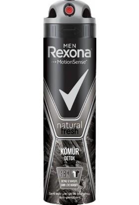 Rexona Deo Men Natural Fresh Kömür Detox 150ml.