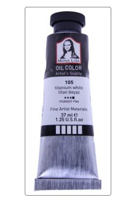 Mona Lisa 105 Yağlı Boya 37 ml Titan Beyaz