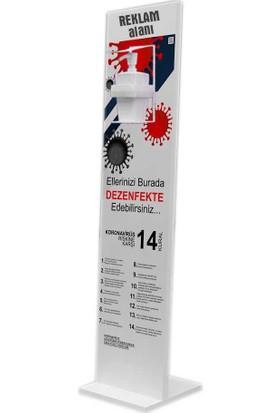 Bayz Dezenfektan Standı Kol Dirsek Basmalı Ayaklı Stand 127 x 30 cm