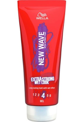 New Wave Extra Strong Wet Look No:4 Gel 200ml