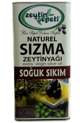 Zeytin Sepeti Soğuk Sıkım Zeytinyağ 5 lt Teneke