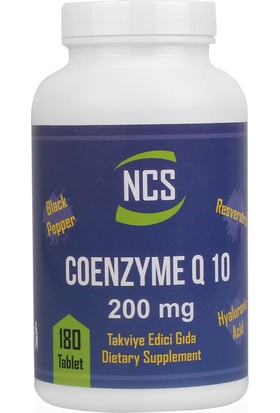 Ncs Coenzyme Q - 10 200 mg 180 Tablet Milk Thistle Artichoke 180 Tablet