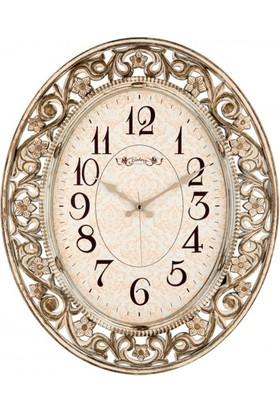 İş Saat Büyük Boy Eskitme Dekoratif Duvar Saati