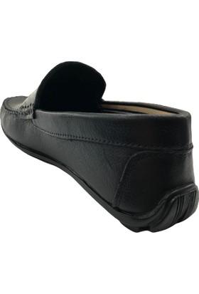 Tkn 020 Deri Siyah Erkek Ayakkabı