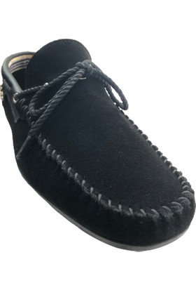 Tkn 035 Siyah Süet Deri Erkek Ayakkabı