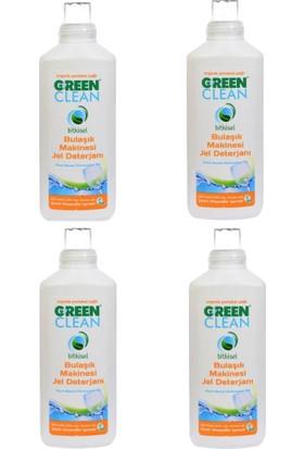 U Green Clean Bitkisel Portakal Yağlı Bulaşık Makinesi Jel Deterjanı 1000ML. 4 Lu Set