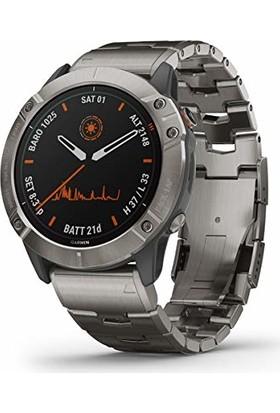 Garmin Fenix 6X Pro Solar Premium Multisport Gps 51 mm Akıllı Saat Titanyum 010-02157-23 (Yurt Dışından)