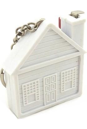 Idea Plastik Gövdeli Ev Şeklinde Metre Anahtarlık 1 Adet
