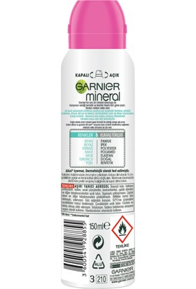 Garnier Mineral Lekesiz Koruma Ferah Koku Sprey Deodorant 150 ml