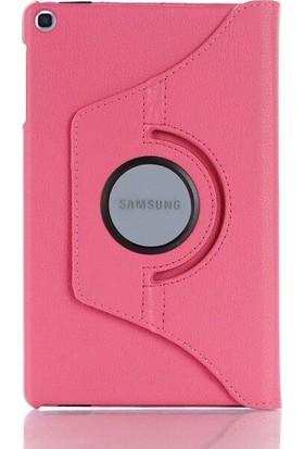 """Fibaks Samsung Galaxy Tab S5E SM-T720/T725/T727 10.5"""" Kılıf + Kalem 360 Derece Dönebilen Standlı Tam Koruma Uyku Modlu Kapaklı Pembe"""