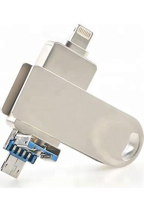 Mars 128 GB iPhone Lightning ve Micro USB Cihazlar için USB Bellek