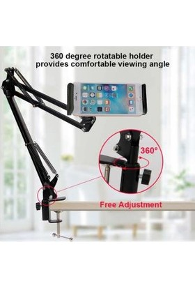 Wonderlust 6 11'' Flexible Sıkıştırmalı Metal Masaüstü Telefon ve Tablet Tutucu