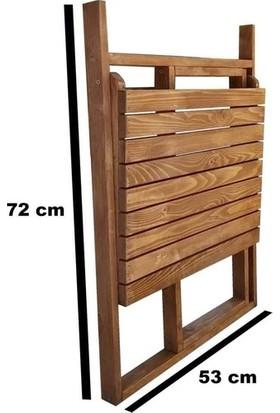Weblonya Balkon Masası Katlanır Ahşap Balkon Masa 2167