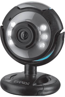 Everest SC-824 300K 480P USB Mikrofonlu LED Webcam