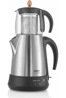 Arzum AR3003-CD Çaycı Klasik Cam Çay Makinesi - Inox