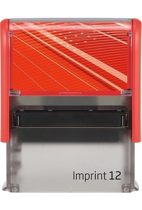 Trodat Imprint 12 Kırmızı Gövde Kaşe