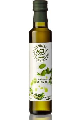 Alhatoğlu Acı Yeşil Erken Hasat Soğuk Sıkım Naturel Sızma Zeytinyağı 250 ml