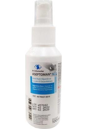 Dr. Schumacher Aseptoman %72 Alkol Bazlı Hijyenik ve Cerrahi El Dezenfektanı 100 ml 36'lı Koli
