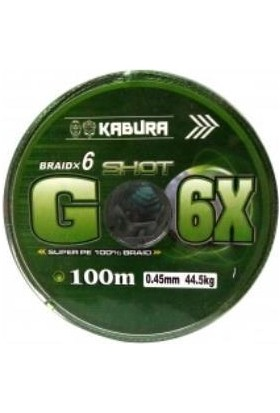 Kabura G - 6x %100 Super Pe Braid 6 Örgü 0,40 mm 100 mt