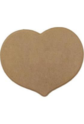 Tymcnc BY0451 Ahşap Boyanabilir Kalp Tabela 19 x 13 x 0,8 cm