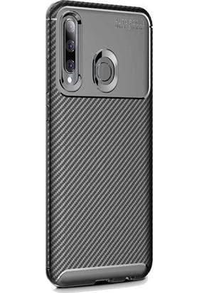 Madam Case Huawei Honor 20 Lite Kılıf Negro Karbon Dizayn Silikon + HD Nano Ekran Koruyucu Siyah