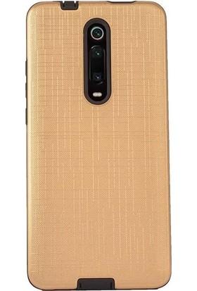 Madam Case Xiaomi Redmi K20 Kılıf New Youyou Sert Lux Silikon + HD Nano Ekran Koruyucu Gold