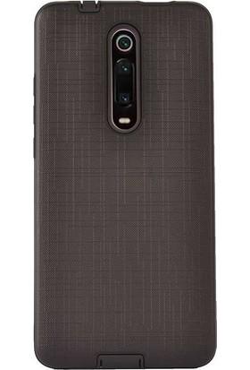 Madam Case Xiaomi Redmi K20 Kılıf New Youyou Sert Lux Silikon + HD Nano Ekran Koruyucu Siyah
