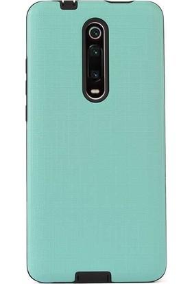 Madam Case Xiaomi Redmi K20 Kılıf New Youyou Sert Lux Silikon + HD Nano Ekran Koruyucu Turkuaz