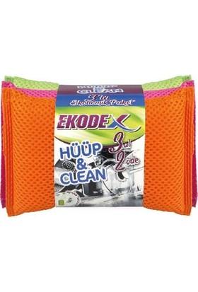 Ekodex Hüüp&clean Temizlik Süngeri 3'lü