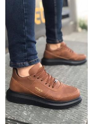 Knack Yüksek Taban Günlük Ayakkabı 040 Taba (Siyah Taban)
