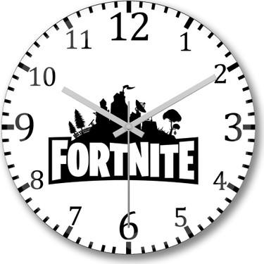 Baski Dukkani Fortnite Logo Duvar Saati Bombeli Gercek Cam Fiyati