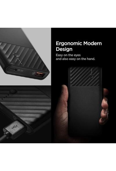 Spigen PocketBoost 10000 mAh 2 Portlu 36W PD 3.0 USB-C (18W) Giriş/Çıkış + Quick Charge 3.0 (18W) Taşınabilir Hızlı Şarj Cihazı Powerbank + 2x Type-C Kablo + Taşıma Çantası F732QC - 000BA26139
