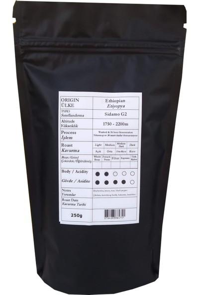 Profusion Coffee Taze Kavrulmuş Ethiopian Sidamo Çekirdek Kahve 250G