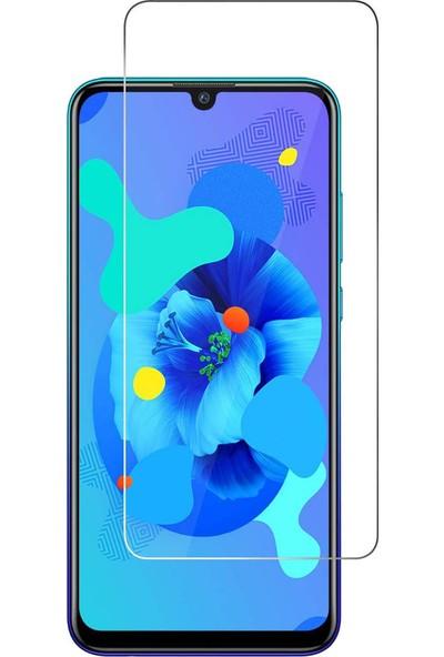 Case 4U Huawei P Smart Pro 2019 Cam Ekran Koruyucu Temperli Şeffaf