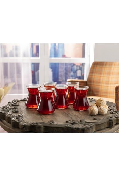 English Home Düz Cam 6li Çay Bardaği 125 Ml