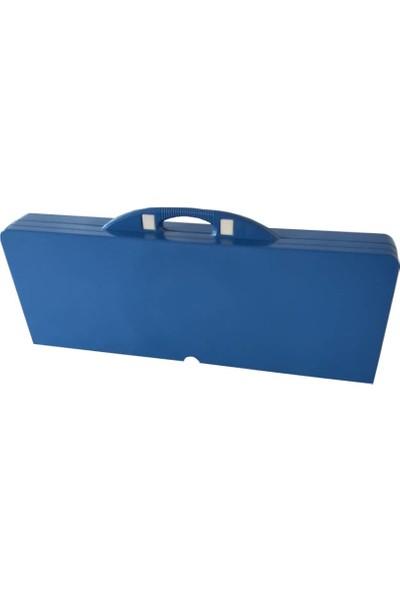 Joystar Katlanır Dahili Tabureli Plastik Alüminyum Piknik Kamp Masası Seti Çanta Tipi