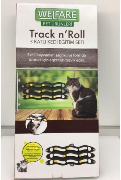 Welfare 3 Kanallı Vantuzlu Kedi Oyun Tüneli