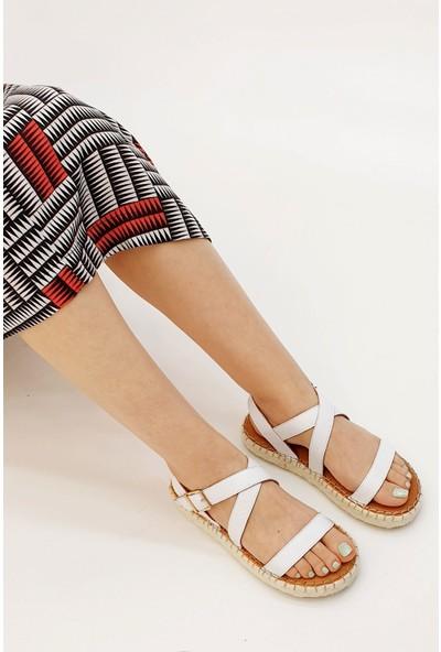 Marjin Kadın Barika Düz Sandalet