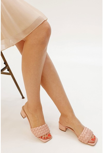 Marjin Kadın Sarnen Topuklu Terlik