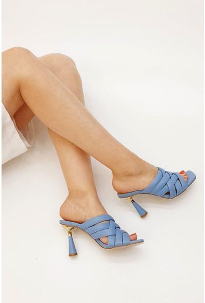 Marjin Kadın Tavira Topuklu Terlik