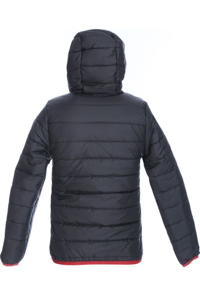 Sportive Çocuk Siyah Kapüşonlu Outdoor Mont B10009-SYH