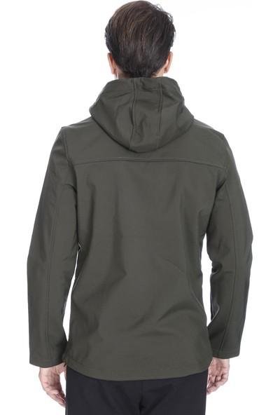 Sportive Erkek Haki Kapüşonlu Outdoor Mont 710754-HKI